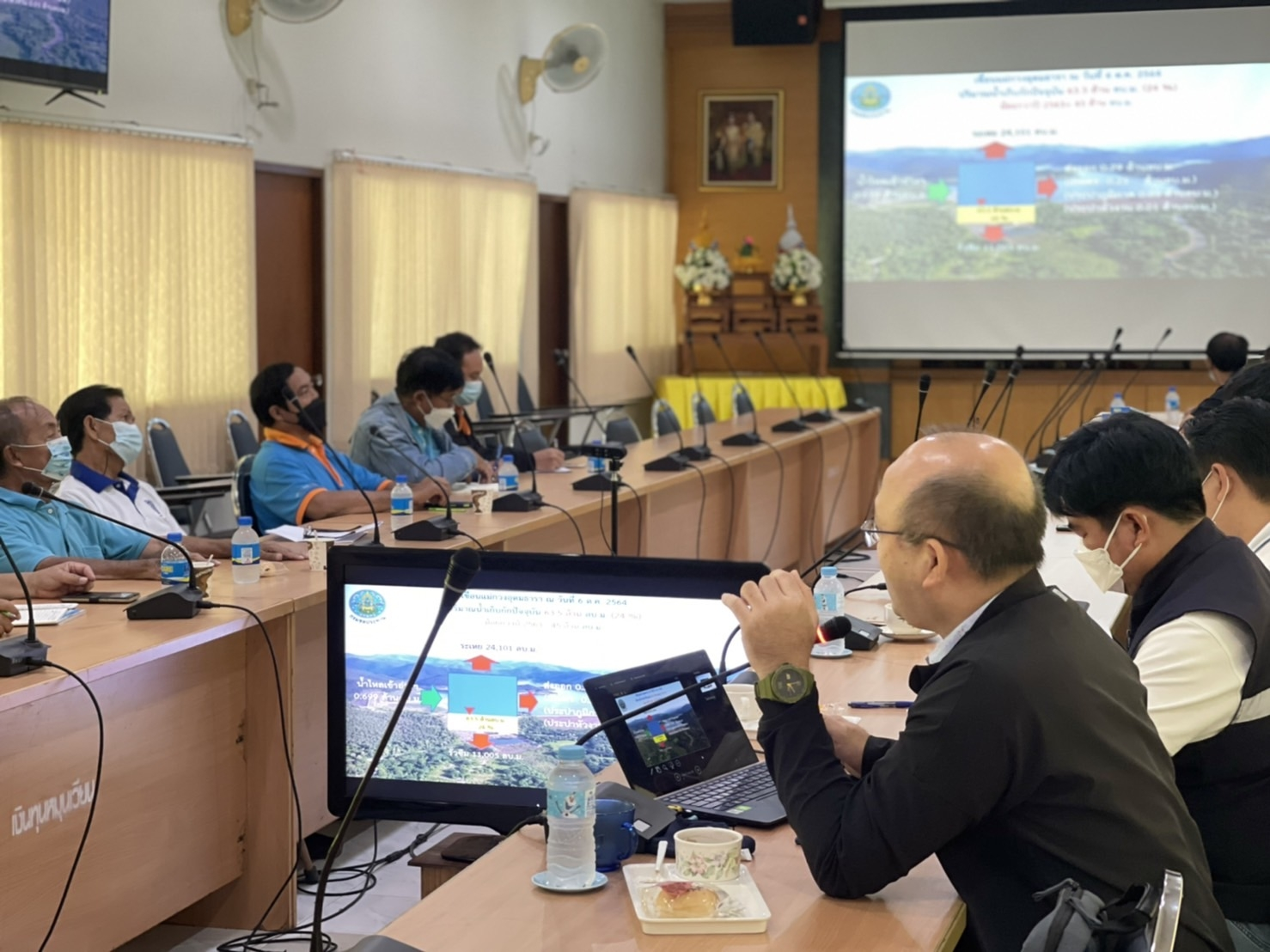 ประชุมติดตามผลการบริหารจัดการน้ำในช่วงฤดูฝน และแจ้งประชาสัมพันธ์สถานการณ์ การพร้อมวางแผนในการบริหารจัดการน้ำในฤดูแล้ง